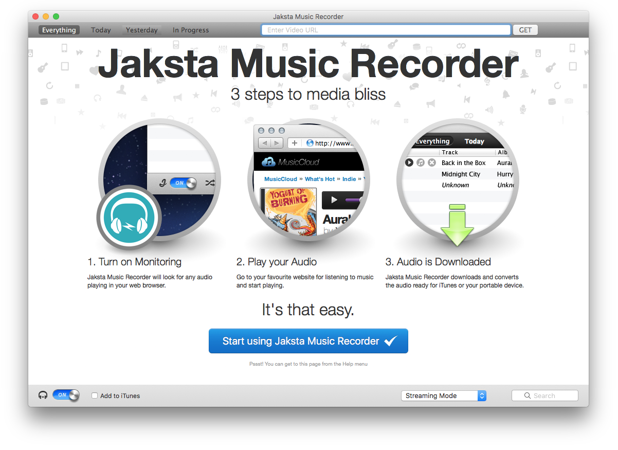 Picture of Jaksta Music Recorder for Mac
