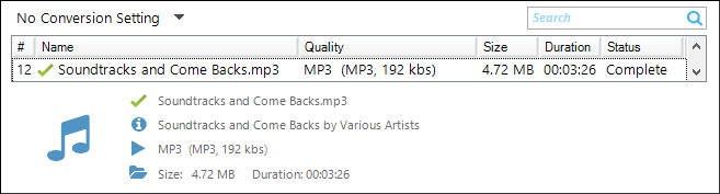 JMR6 Home tab file listing