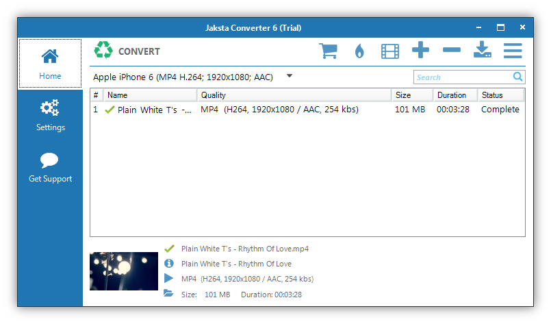 Picture of Jaksta Converter for Windows