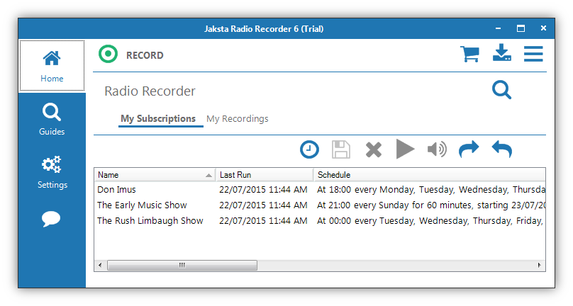 Picture of Jaksta Radio Recorder for Windows